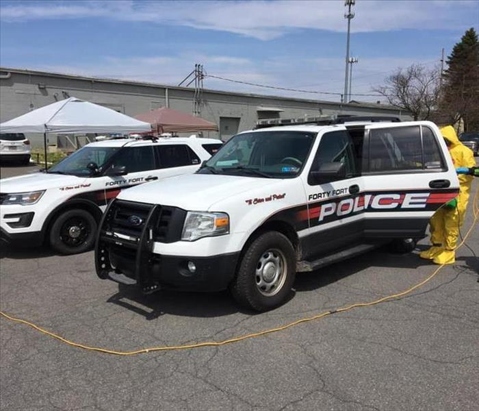 White Forty Fort Police Vehicles in Parking Lot