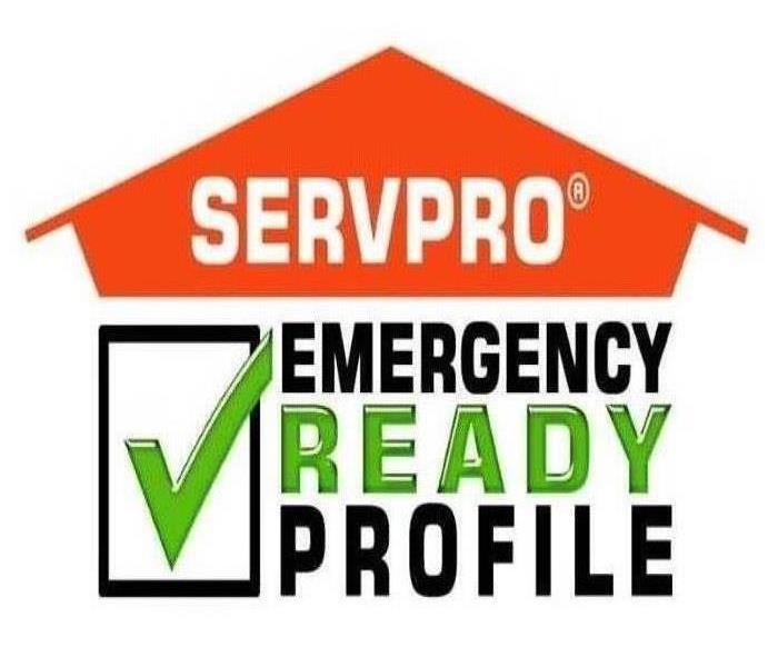 SERVPRO logo with emergency ready profile text under it