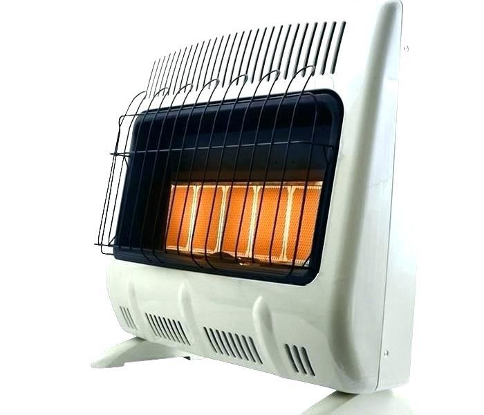 White Space Heater with orange glowing elements